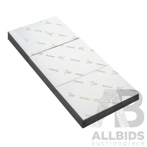 Giselle Bedding Folding Foam Portable Mattress Bamboo Fabric - Brand New - Free Shipping