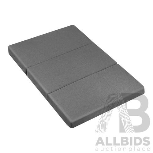 Giselle Bedding Double Size Folding Foam Mattress Portable Bed Mat Dark Grey - Brand New - Free Shipping