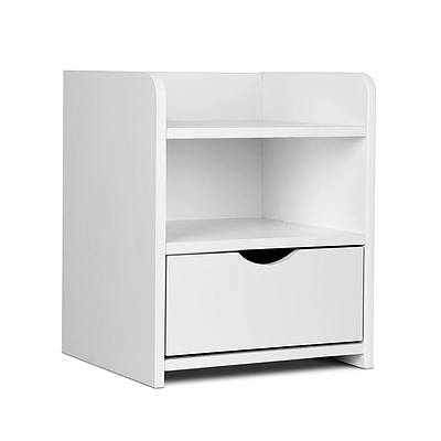 Bedside Table Drawer - White - Free Shipping