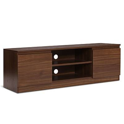TV Stand Entertainment Unit with Storage - Walnut - Free Shipping