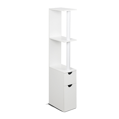 Freestanding Bathroom Storage Cabinet - White - Free Shipping