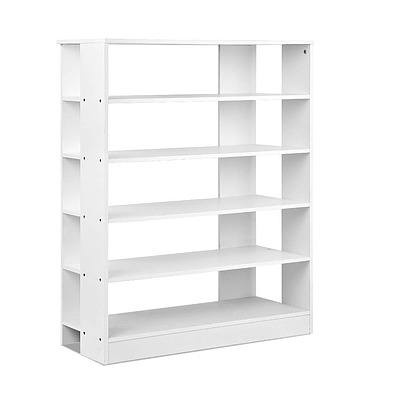 6-Tier Shoe Rack Cabinet - White