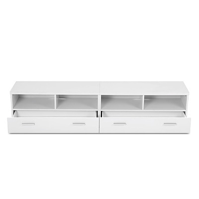 TV Stand Entertainment Unit with Drawers - White - Free Shipping