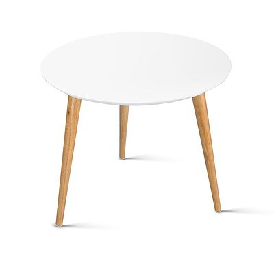 Round Side Table - White - Free Shipping