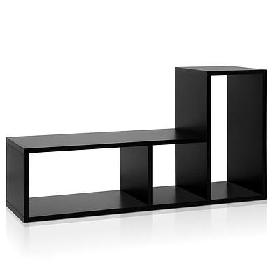 DIY L Shaped Display Shelf - Black - Free Shipping