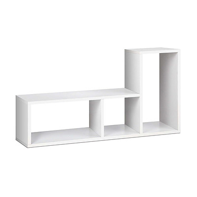 DIY L Shaped Display Shelf - White - Free Shipping