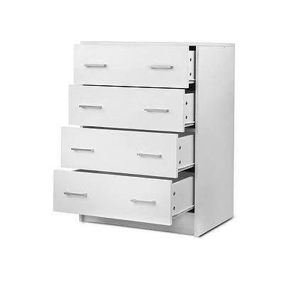 Artiss Tallboy 4 Drawers Storage Cabinet - White - Brand new - Free Shipping