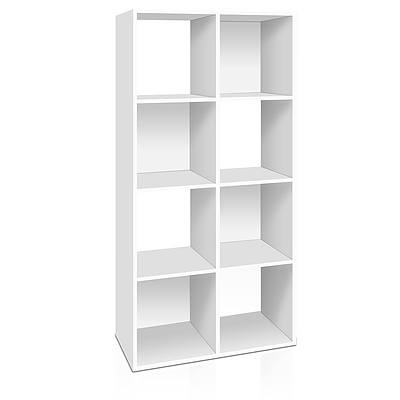 8 Cube Display Storage Shelf - White - Free Shipping
