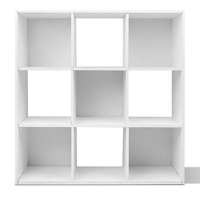 9 Cube Display Storage Shelf White - Free Shipping