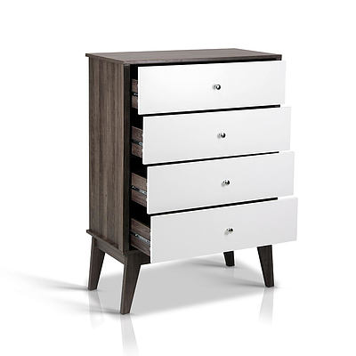 Artiss 4 Chest of Drawers Storage Cabinet - White - Brand new - Free Shipping
