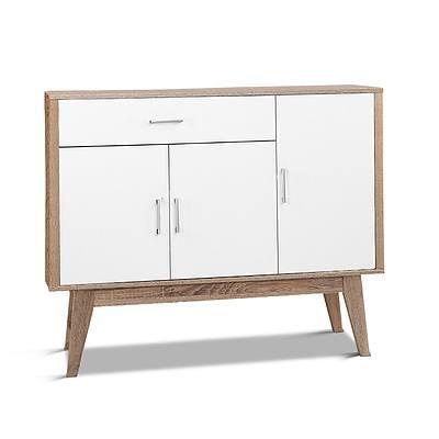 Artiss 26 Pairs Wooden Shoe Organiser Cabinet Storage Scandinavian - Free Shipping