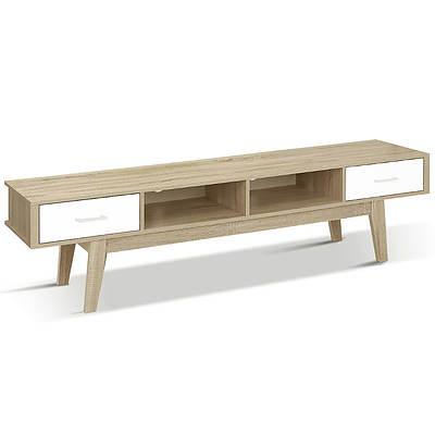 TV Stand Entertainment Unit Cabinet Storage Scandinavian 180cm Oak