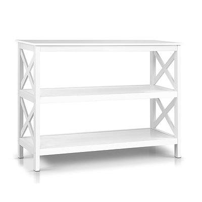 Wooden Storage Console Table - White - Free Shipping