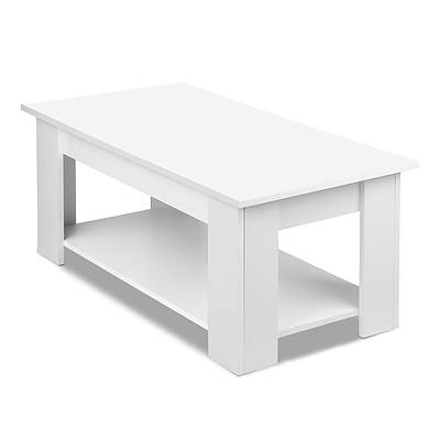 Lift Up Top Mechanical Coffee Table - White - Free Shipping