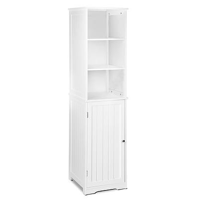 Bathroom Tallboy Storage Cabinet - White - Free Shipping