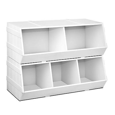 Kids Toy Storage Box - White