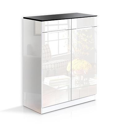 High Gloss Shoe Cabinet Rack Black / White - Brand New - Free Shipping
