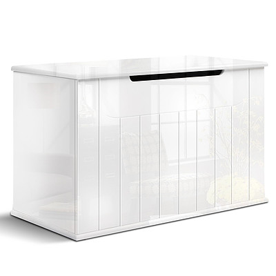 Baby Toy Box Nursery Wood Storage Chest Organizer - White - Brand New - Free Shipping