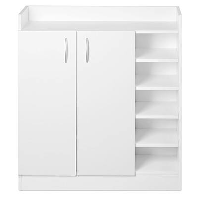 2 Doors Shoe Cabinet Storage Cupboard White - Brand New - Free Shipping