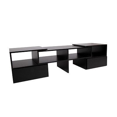 Entertainment Unit with Cabinets - Black - Free Shipping