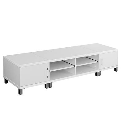 Entertainment Unit  with Cabinets - White - Free Shipping