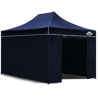 3x4.5M Outdoor Gazebo - Navy - Free Shipping