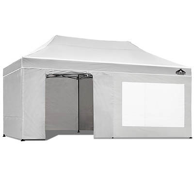 Gazebo Pop Up Marquee 3x6m Folding Wedding Tent Gazebos Shade White - Brand New - Free Shipping