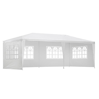 Gazebo 3x6m Outdoor Marquee Side Wall Party Wedding Tent Camping White 4 Panel - Brand New - Free Shipping