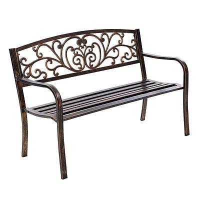 Cast Iron Garden Bench - Bronze
