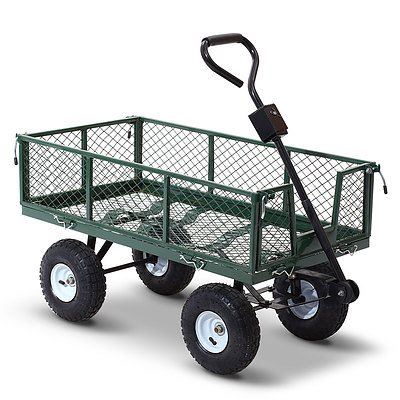 Mesh Garden Steel Cart - Green - Brand New - Free Shipping