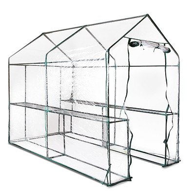Greenhouse with Transparent PVC Cover - 1.9M x 1.2M - Free Shipping