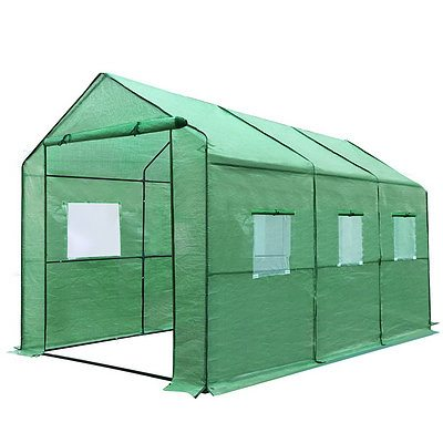 Greenhouse with Green PE Cover - 3.5M x 2M - Brand New - Free Shipping