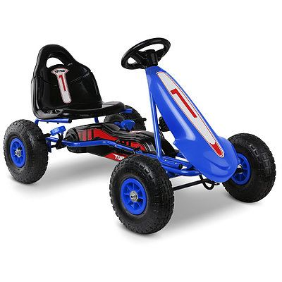 Kids Pedal Powered Go Kart - Blue - Free Shipping