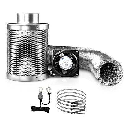 Greenfingers Hydroponics Grow Tent Ventilation Kit Vent Fan Carbon Filter Duct Ducting 4 inch - Brand New - Free Shipping