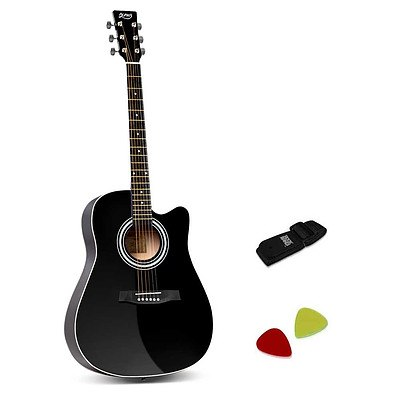 41 inch Steel-Stringed Acoustic Guitar Black - Brand New - Free Shipping