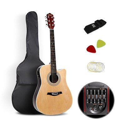 41 inch 5- Band EQ Electric Acoustic Guitar Full Size Natural - Brand New - Free Shipping