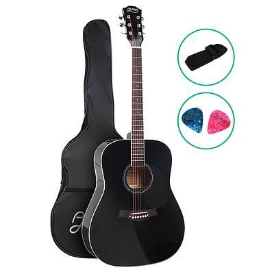 41 Inch Wooden Acoustic Guitar Black