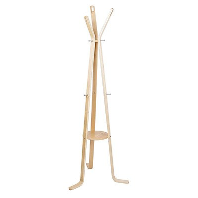 Wooden Coat Hanger Stand - Beige - Free Shipping
