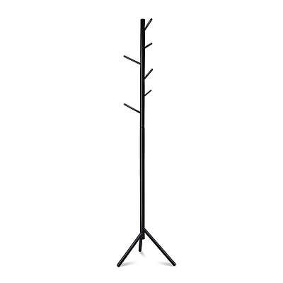 Wooden Coat Rack Clothes Stand Hanger Black - Brand New - Free Shipping
