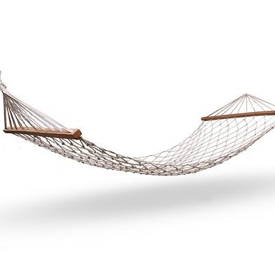 Gardeon Swing Hammock Bed Cream - Free Shipping