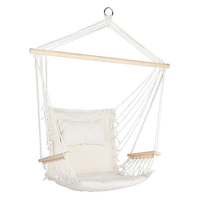 Hammock Hanging Swing Chair - Cream - Free Shipping