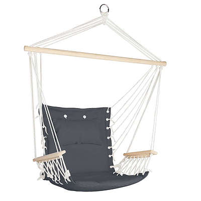 Hammock Hanging Swing Chair - Grey - Brand New - Free Shipping