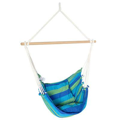Hammock Swing Chair with Cushion Blue Green - Brand New - Free Shipping