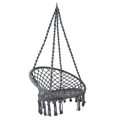 Hammock Swing Chair - Grey - Free Shipping