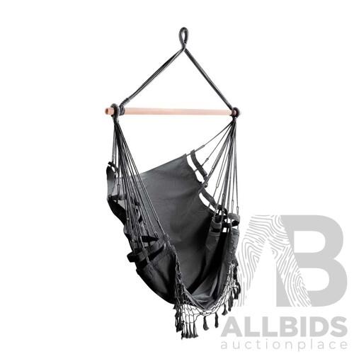 Grey Hanging Hammock Chair - Brand New - Free Shipping