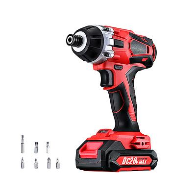 Impact Driver Cordless 20V Lithium Battery Electric Screwdriver Hex Tool