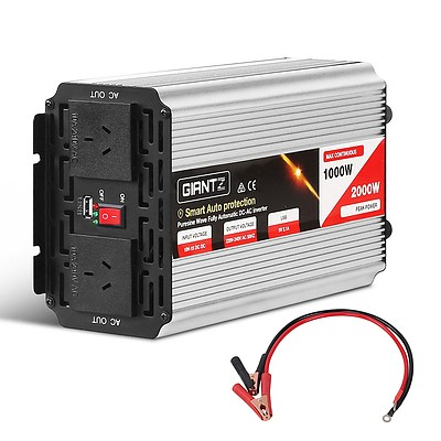 1000W/2000W Pure Sine Wave Power Inverter - Free Shipping