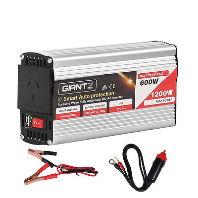 600W/1200W Pure Sine Wave Power Inverter - Free Shipping