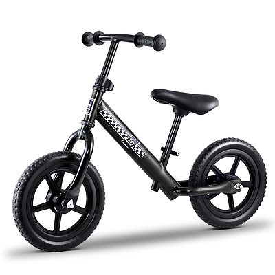 "Kids Balance Bike Ride On Toys Puch Bicycle Wheels Toddler Baby 12"" Bikes Black - Brand New - Free Shipping"