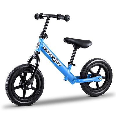 """Kids Balance Bike Ride On Toys Puch Bicycle Wheels Toddler Baby 12"""" Bikes Blue - Brand New - Free Shipping"""